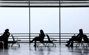 Travellers at the airport