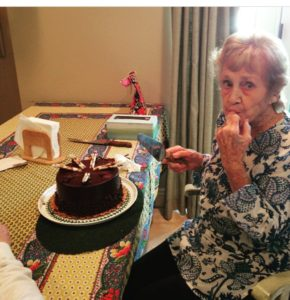 May 2015, her 85th birthday.